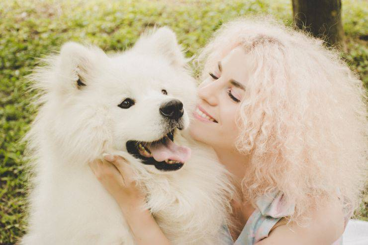 affectionate mistress dog